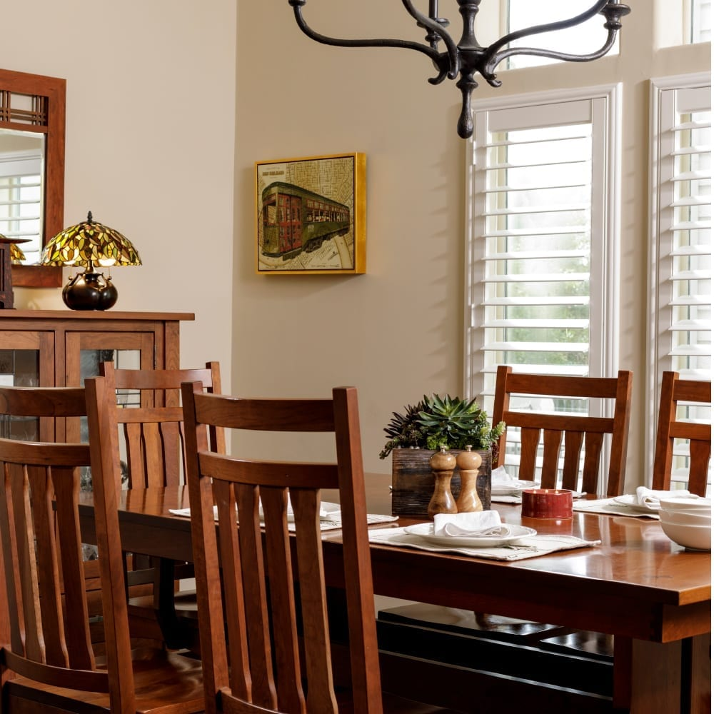 Mission Craftsman dining room furniture