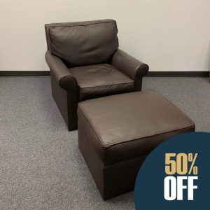 Leather Chair & Ottoman 8