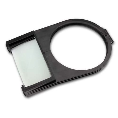 shade mounted magnifier attachment